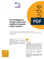 The Philippines' foreign policy and relations towards major powers