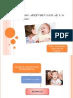 Cómo Aprenden Hablar Los Bebes