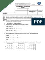 evaluación unidad 3 matemática 2°