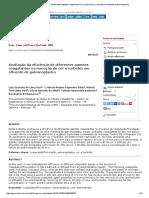 Avaliação Da Eficiência de Diferentes Agentes Coagulantes Na Remoção de Cor e Turbidez Em Efluente de Galvanoplastia