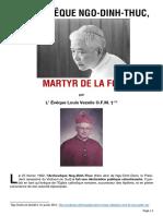 Mgr Louis Vezelis-L' Archeveque-Ngo Dinh-Thuc-Martyr de La Foi