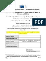 Annexe a Formulaire de Demande de Subvention (1)