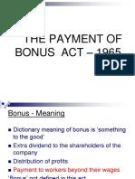 Bonus Act - 1965 - 1