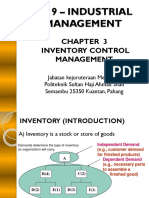 3.0 Inventory Management