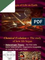 Origin of Life on Earth