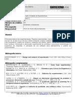 INE 6012 Projeto e Análise de Experimentos1