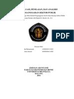 Resume Evaluasi Penilaian Analisis Penganggaran Sektor Publik