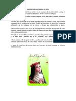 Biografía de Santa Rosa de Lima