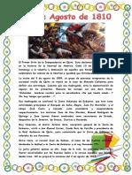 El Primer Grito de La Independencia en Quito