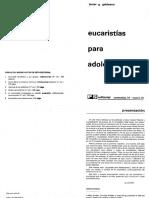 Galdeano, Javier g - Eucaristías Para Adolescentes