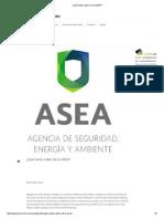 ¿Qué Tanto Sabes de La ASEA_