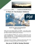 Pastor Bill Kren's Newsletter - November 12, 2017