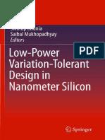 Low-Power Variation-Tolerant Design in Nanometer Silicon (Bhunia) [2010]