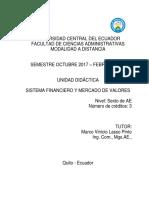 Unidad Didáctica 2017 - 2018