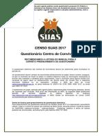 Questionario Convivencia - Censo SUAS 2017