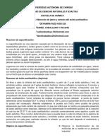 Informe de Sintesis de Aspirina y Saponofiocación