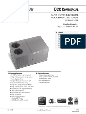 EQUIPO PAQUETE DAIKIN | Air Conditioning | Power Supply on