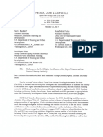 2017.10.31 letter to HUD on Houston and HHA's civil rights certifications