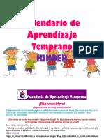 Calendario de Aprendizaje Temprano KINDER