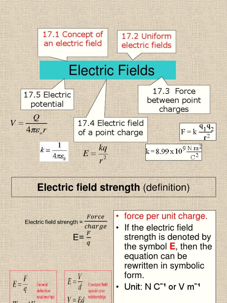 17 Electric Fieldspdf Electric Field Force