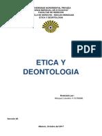 Etica y Deontologia - Trabajo de Investigacion