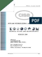 Manual de Usuario Autoclave Cisa 200 Autoclave (Inglés)