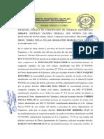 Escritura Publica de Transformacion de Soociedades