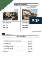 340DL vs Komatsu PC400 Side by Side Comparison_update May 11