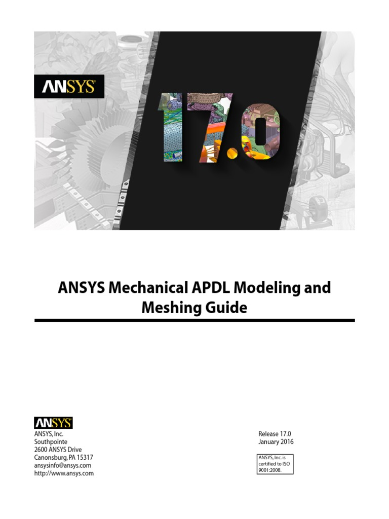 ANSYS Mechanical APDL Modeling and Meshing Guide | License