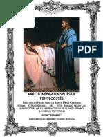 GUÍA DE LOS FIELES PARA LA SANTA MISA CANTADA. Domingo XXIII después de Pentecostés. Kyrial Angelis