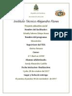 Informe de Alfabetizacion Grisel honduras 2017