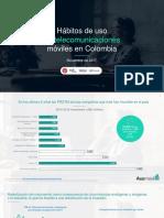 Hábitos de uso de telecomunicaciones móviles en Colombia
