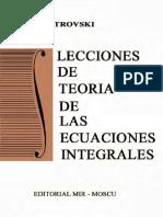 Lecciones de Teoría de Las Ecuaciones Integrales