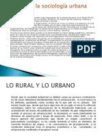 Sociologia Urbana