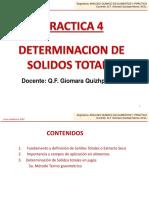 Practica n.-4, Determinacion de Solidos-Totales, Ciclo II-2017-2018