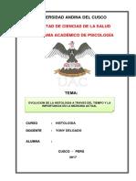 EVOLUCION DE LA HISTOLOGÍA A TRAVES DEL TIEMPO Y LA IMPORTANCIA EN LA MEDICINA ACTUAL.docx