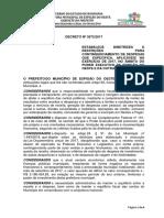 DECRETO Nº 35732017. Plano de Contingenciamento Gastos Modificado 2