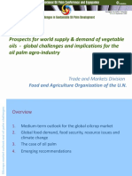 Prospects for World Supply & Demand of Vegetable Oils - Global Challenges and Implications for the Oil Palm Agro-Industry