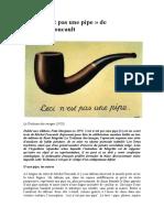 Yoann Hervey - « Ceci n'Est Pas Une Pipe » de Michel Foucault