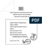 Soft Skills Seminar Brief Account