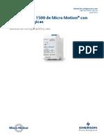 Transmisores 1500 de Con Salidas Anal Gicas Manual de Configuraci n y Uso ANALOG OUTPUTS CONFIGURATION MANUAL SPANISH Es 62326