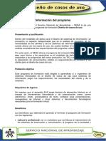 Informacion del programa-Diseño de casos de uso