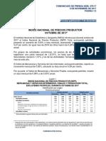Índice Nacional de Precios Productor Octubre de 2017