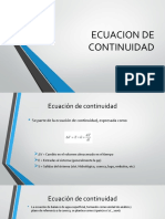 Ecuacion de Continuidad - Precipitacion