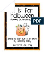 Mommy School Week 6_Halloween