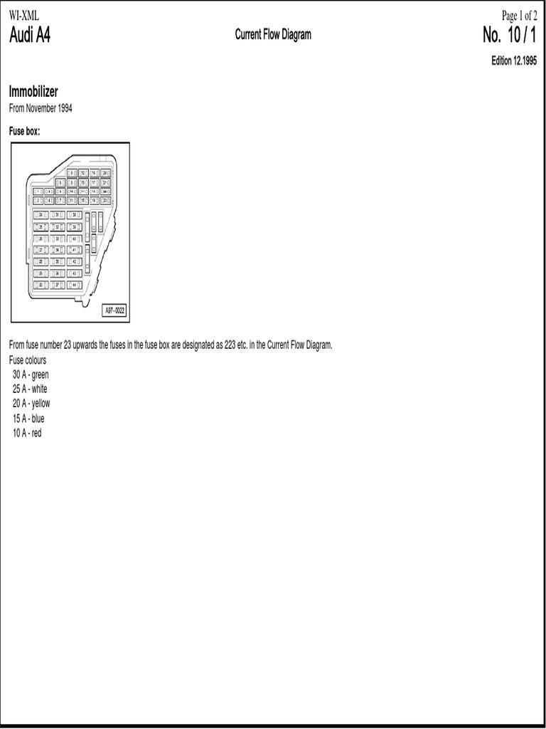 Audi A4 B5 1995 Immobiliser AEB.pdf   Car Body Styles   Car   Audi A4 Immobilizer Wiring Diagram      Scribd
