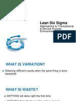 Lean Six Sigma Presentation - 08-11-2016 Meeting