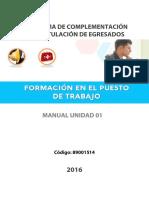 Manual Formación en el Puesto de Trabajo