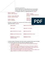 Resumen de Español Parcial 2
