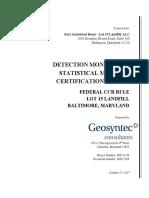 MD17269 - Lot 15 GM Statistics Certification Report